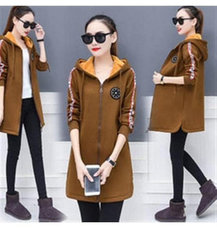 d18d7c6a67c RO2224봄 후드 재킷 벨벳 두꺼운 자켓 수입 여성코트