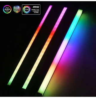 [해외] [1433919] Computer 5V 3PIN Aluminum R505 Light Strip Chassis Light With Magnetic Multicolor RGB VDG - CAOMENG