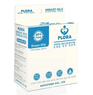 플로라[PLORA] 프리미엄 3중지 모유 저장팩 터지지않는 모유 저장팩